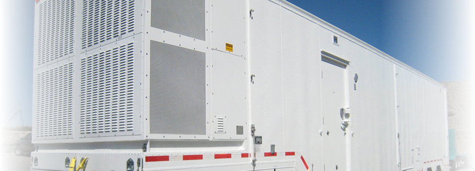 145,000 BTU/Hr continuous run environmental control unit with 100 percent redundancy mounted on an over the road electronics trailer.